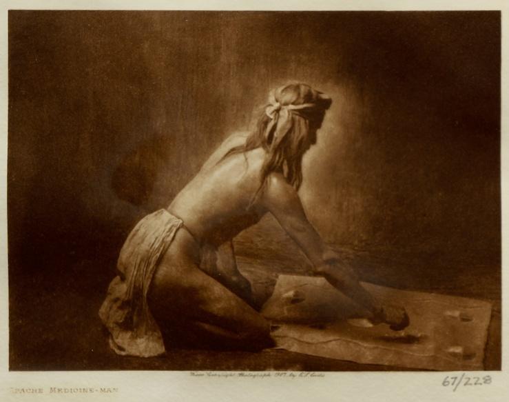 Edward S Curtis- Apache Medicine-Man Photogravure- Matthews Gallery Blog