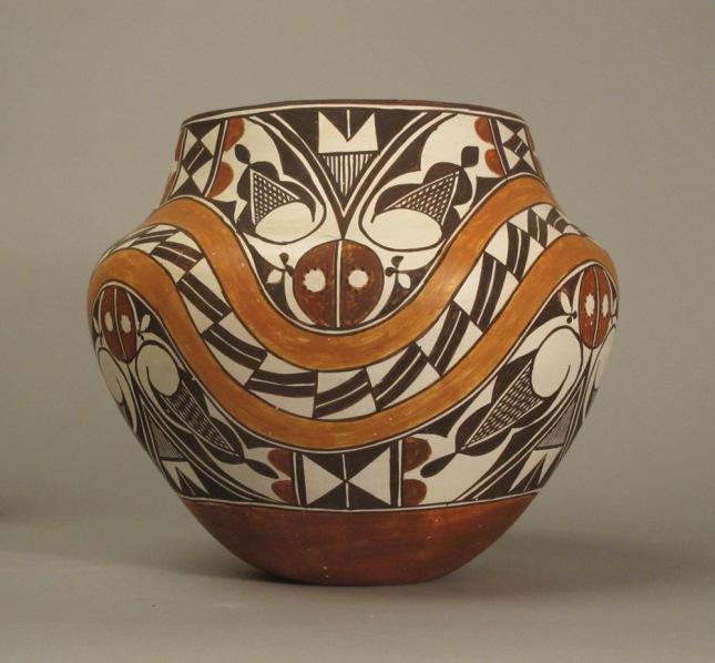 Juana Leno- Acoma Polychrome Olla circa 1965- Matthews Gallery Blog