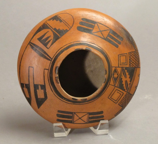 Nampeyo- Black Red Hopi Seed Jar Sculpture- Matthews Gallery