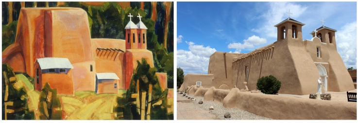 Alice Webb- San Francisco de Assissi Mission Church in Taos- Matthews Gallery Blog