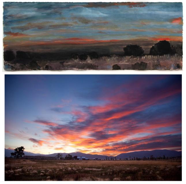 Barbara Brock- Taos sunset- Matthews Gallery Blog