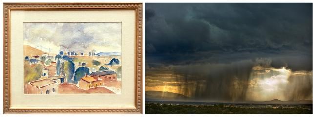 Dorothy Morang- Summer storm in Santa Fe- Matthews Gallery Blog