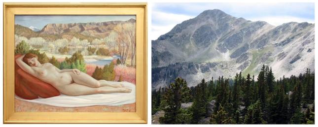 Eli Levin- Glimpse of Truchas Peak- Matthews Gallery Blog