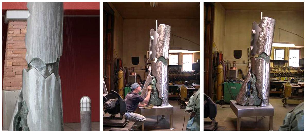 Frank Morbillo- Entropy Column- Bradbury Museum