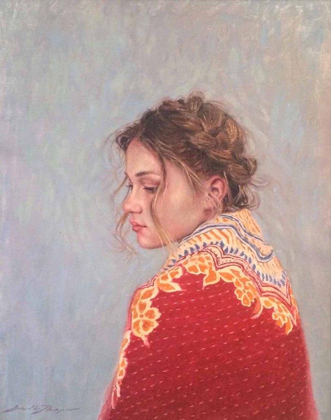 Eric Thompson- Santa Fean Girl- Oil on Linen- Matthews Gallery Blog